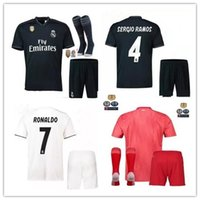 2018 2019 Real Madrid home Away 3RD MANS adult kits jerseys with patch 18  19 RealES Madrid RONALDO BENZEMA JAMES BALE shirt 22dc5d3d8