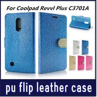 bling credit card case toptan satış-Elmas Cüzdan kılıf Coolpad Revvl Artı C3701A telefon kılıfı Için opp çanta ile Glitter Bling Rhinestone kredi kartı Yuvaları C