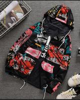 ingrosso giacca militare a doppio seno-Ms Double-sided wear Camouflage coat Versione coreana Fashion stampato trench Casual running top nuovo stile all'ingrosso