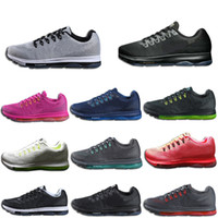 Wholesale pink fishing box - Zoom 2018 All Out New Arrival 11 Colors AAA+ Quality Breathable Cushion Jogging Running Shoes Men Women With Double Boxed
