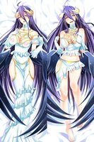 Wholesale Japanese Anime Pillow Cases - New Overlord Anime Pillow Case Japanese Albedo print Pillowcase 2Way Japanese Girls Gifts Rectangle Two Sides 50x160cm