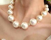 большие бисерные ожерелья оптовых-3 шт./лот Mix много свадебная мода ювелирные изделия Brand New мода женщины белый большой жемчуг бисером ожерелье