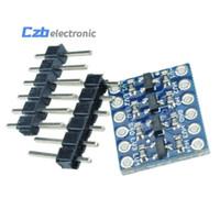 módulos arduino i2c al por mayor-5 UNIDS IIC I2C Conversor de Nivel Lógico Módulo de Tarjeta Bidireccional 5 V / 3.3 V DC Para Arduino Con Pines Envío Gratis