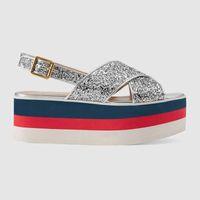 Wholesale flash flip - 2018 New style Designer discount Flash cross strap waterproof 7 CMHigh heel sandals women shoes Comfortable Lady shoe size 35-42