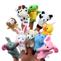 Wholesale baby puppets for kids for sale - Group buy 10pcs set Cartoon Animal Finger Puppet Baby Plush Toys for Children Favor Gift Family Dolls Kids Finger Toy