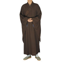 Wholesale monks clothing - Shanghai Story buddhist Wooden hooks suits clothes lay clothing Monk robes Brown lay Bodhisattva precepts mann garment unisex famous brand