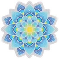 ingrosso nave di goccia della boemia-Drop Shipping Indiano Mandala Tapestry Lotus Mat Yoga Boemia Fiore stampato Scialle Sunblock Telo mare rotondo con Nappa MFLA1