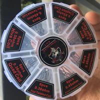 Wholesale fusing kit - Demon Killer Prebuilt Coils 8 in 1 Kit Pre-built Mixed Twisted Clapton Hive Alien Clapton Fused Clapton Tiger Quad Coil 48pcs RBA Atomizer