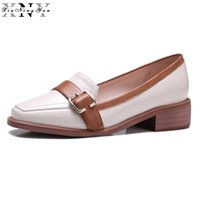 ingrosso scarpe casual in pelle donna-XiuNingYan Donna Oxfords Genuine Leather Ladies Casual Flats Slip-on Handmade pelle di pecora mocassini Muffin femminile scarpe 2017