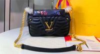 atmosphäre ledertaschen großhandel-Neue Mode Designer Schultertasche 51930 Leder Damen Handtaschen Atmosphäre einfache Diagonale Cross Bag Top Tasche