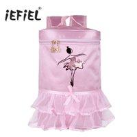 prinzessin tutu taschen großhandel-iEFiEL Hot Kids Mädchen Adorable Ballett Tanztasche bestickt Prinzessin Ballerina Tanzen Tiered Rüschen Tutu Bag Rucksack