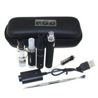 Wholesale plastic pen case - 3 in 1 case kit Wax Vaporizer Pen Kit Dry Herb electronic cigarettes with atomizer MT3 Glass atomizer EVOD Battery 650mah 900mah 1100mah