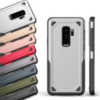cas défenseur d'armure achat en gros de-Etui Skylet Armure Pour iPhone 11 Pro XS Max XR Etui Coque Rigide pour Samsung Galaxy Note 10 S10 PLUS Note 9