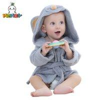 ingrosso asciugamano da bagno carattere dei capretti-MICHLEY Animal Modeling Baby Accappatoio con cappuccio Cartoon Babies Carattere Kids Bath Robes Infantile da spiaggia
