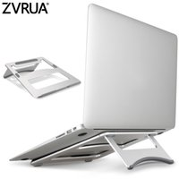 Wholesale Holder Mount For Ipad - ZVRUA Laptop Stand Portable Tablet Holder Aluminium Laptop Stands For MacBook Air Mac Book Pro 120 Degree Tablet Mount Soporte