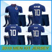 Wholesale black atom - 2018 Japan soccer jersey ATOM CARTOON NUMBER Japan Tsubasa KAGAWA OKAZAKI NAGATOMO KAMAMOTO Football woman kit Shirt