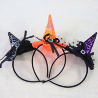 ingrosso streghe cappello fascia-Nuovo Halloween Accessori Puntelli Halloween Party design strega Cappelli Copricapo fascia Strega cerchio capo Strega fascia