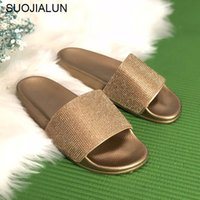 Big Size Crystal Diamond Slippers Summer Women Slippers Bling Beach Slides  Flip Flops Ladies Sandals Casual Shoes Slip On Slides 957fc2b96a18