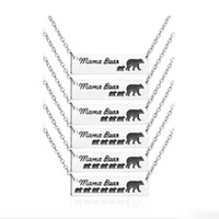 Wholesale polar bear birthday online - 2018 Inspired Silver Plated Bar Necklace Polar Mama Bear Babys Bear Necklace Gifts for Mom Wife Mother s Day Gift Birthday Remembrance