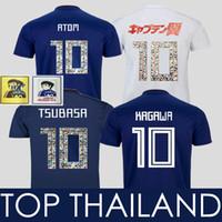 para desenhos animados venda por atacado-2018 Capitão Tsubasa Japão ATOM Camisa de Futebol Kagawa Okazaki Camisa de Futebol DOS DESENHOS ANIMADOS DO NÚMERO Japon Maillot Camisetas de futbol Camisas