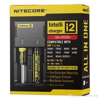 Wholesale best universal battery charger - Best Qulity Nitecore I2 Universal Charger for 16340 18650 14500 26650 Battery US EU AU UK Plug 2 in 1 Intellicharger Battery Charger