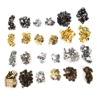 Wholesale 14mm Buttons - 50pcs lot 14mm 18mm Bag Purse Clasps Sewing Buttons Magnetic Metal Snaps Fasteners For Handbag Craft Sewing Leather Coat Buttons