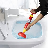 Wholesale toilet suckers - Practical Sewer Piping Dredger Household Toilet Strong Sucker Cleaning Vacuum Drain Plunger For Home Bathroom Tool Hot Sale 12xl Z