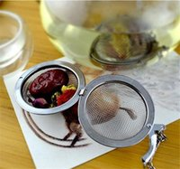 Wholesale Tea Infusers Pots - New Stainless Steel tea infuser 4.5cm   5.5cm   7cm  9cm Tea Pot Infusers Sphere Mesh Tea Strainer Ball