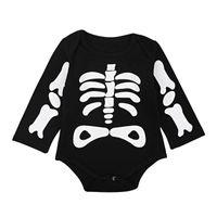 avrupa tulum kıyafeti toptan satış-Bebek giysileri toddler romper Avrupa ve Amerika ilkbahar ve sonbahar erkek ve kız tulum Cadılar Bayramı uzun kollu tırmanma giysileri
