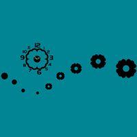 ingrosso orologi di fiori acrilici-Creativo 3D FAI DA TE Reloj De Pare fiori forma moda europa design decorazione della casa moderna acrilico al quarzo ago orologio da parete a specchio