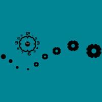 relógios de flores de acrílico venda por atacado-Criativo 3D DIY Reloj De Pare flores forma moda europa design de decoração para casa moderna acrílico de quartzo agulha relógio de parede espelho