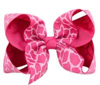 accesorios para el pelo arco leopardo al por mayor-4 pulgadas caliente estampado de leopardo pinzas para el cabello arcos arco de pelo niñas horquillas niños pelo accesorio Headwear