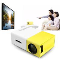 micro usb projetores venda por atacado-YG300 micro mini projetor portátil HD Bolso LEVOU projetor para Vídeo Home Theater Filme Suporte HDMI USB SD Home Media Player