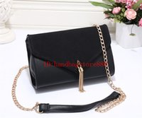 Wholesale Coffee One - Hot fashion women famous brand MICHAEL KALLY handbag PU leather Luxury designer chain bags one-shoulder message bag crossbody tassel purse