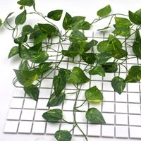 ingrosso piante di plastica edera-1 pz verde artificiale di seta foglia di edera giardino di plastica pianta fiore foglie di vite fiore pianta artificiale coperta foglie decorazione domestica