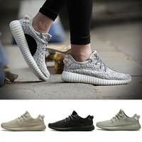 bayan rahat ayakkabılar toptan satış-Orijinal kutusu ile 35O V1 Moonrock Korsan Siyah Oxford Tan Kaplumbağa Dove Gri Kadın Erkek Koşu Ayakkabıları Spor Kanye West Moda Rahat Sneakers