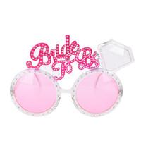 c52d4134aa9 Bachelorette Party Glasses Pink Diamond Bride To Be Sunglasses Wedding  Decoration Hen Party Bridal Shower Favors