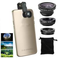kamera digital sony großhandel-3 in 1 Weitwinkelobjektiv + Makroobjektiv + 180 Fischaugenobjektiv für iPhone 4 4 s 5 5 s 5 c 6 Samsung Galaxy HTC LG HTC Sony Digitalkamera