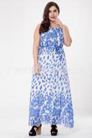 vestido novo indiano quente venda por atacado-Mulheres Indian Saree Paquistão Roupas Femininas 2017 Hot New Fashion T-shirt Tamanho Sem Mangas Chiffon Vestido De Bohemia Beach Resort