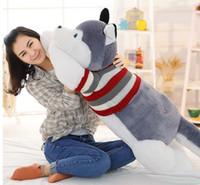 Wholesale cute huskies - Husky Siberian Plush Toy Shell Animal Doll Pillow Cute Figure Gift 170cm (WITHOUT STUFFED) Christmas Gifts