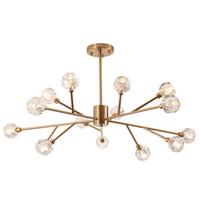 led g4 down light achat en gros de-Lustre en cristal moderne en laiton G4 LED suspension lumière plafonnier luminaire nouveau pour salle à manger décor à la maison H066