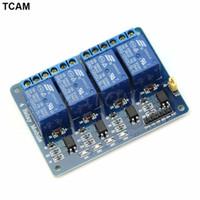 módulo de relé único al por mayor-Módulo de relé de 4 canales 12V con optoacoplador PIC / AVR / 51 / ARM para Arduino Single Chip
