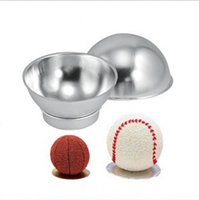 Wholesale kitchen ornament - Baking Tool Round Ball Football Modeling Cake Mold Spherical Half Kitchen Tools High Quality Ornament Factory Direct 20ks X