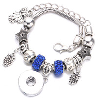 Discount channel 18 - New temperament DIY Snap Random Bracelet Pendant Crystal chain Can be fitted with 18 mm Snaps For Women's Accessories Wholesale A46-1