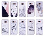 Wholesale Case Iphone Rocks - Marble Soft TPU IMD Case For Galaxy S8 Plus S7 Edge (A5 A3 J7 J5 J3)2017 Style Don't Touch My Phone Silicone Gel Rock Stone Hybrid 100PCS