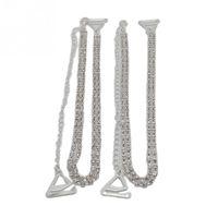 bretelles en strass achat en gros de-Accessoires de ceinture en gros-réglables 1 paire double Crystal Diamant strass Bra épaule Ceintures