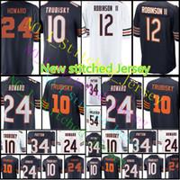 Wholesale Football Bearing - Men Chicago Bear Jersey #12 Allen Robinson II 10 Mitchell Trubisky 24 Howard 34 Walter Payton 54 Brian Urlacher Home stitching Jerseys