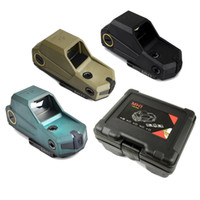 Wholesale green dot tactical rifle scopes resale online - Tactical Hartman MH1 Red Dot Sight Reflex Largest Field Scope With Quick Detach and USB Charger for Hunting Air soft Black Dark Earth Green