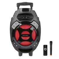 drahtlose bluetooth lautsprecher china großhandel-LED Lautsprecher Tragbare Karaoke Bluetooth Party DJ 18