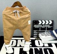 erkekler için joggers pantolon toptan satış-Çocuk Boys Eşofman Çocuklar Rahat Spor Pantolon Boys Bahar Sonbahar Pantolon Harem Pantolon Çapraz pantolon Bebek Giysileri Joggers